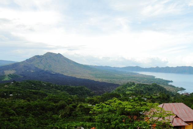Batur Caldera and the Batur Lake at Kintamani, Indonesia