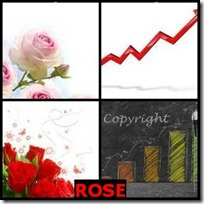 ROSE- 4 Pics 1 Word Answers 3 Letters