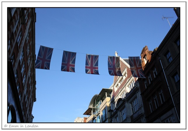 Union Flags in Long Acre Covent Garden