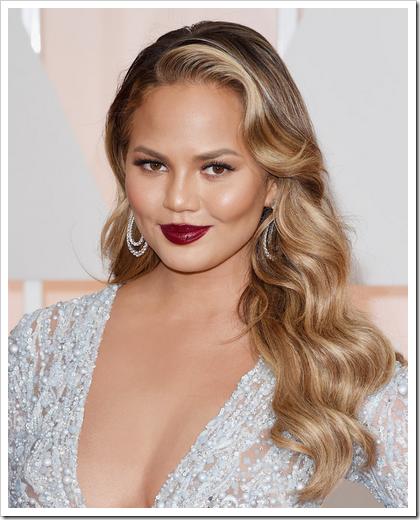 Looks beauty premios Oscar 2015 04 Chrissy Teigen