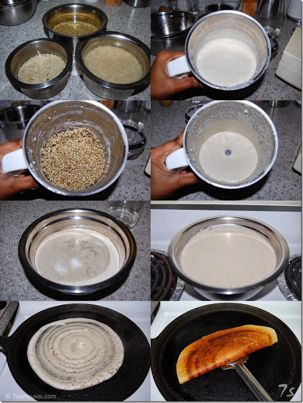 Kambu brown rice dosai process