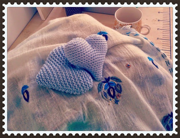 coeur crochet tricot blue day
