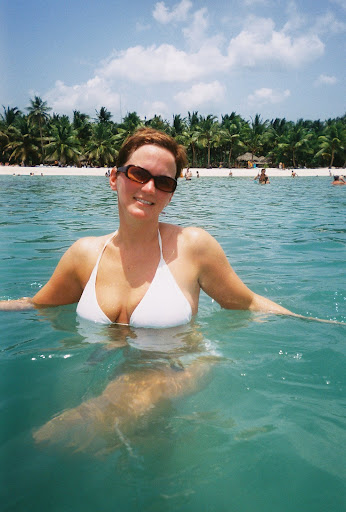 Shelley soaking at Saona Island