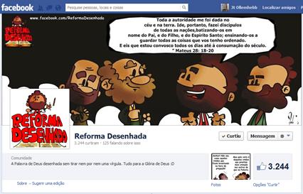 Página do Reforma Desenhada no Facebook