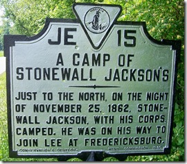 A Camp of Stonewall Jackson's, Madison County, VA Marker JE-15