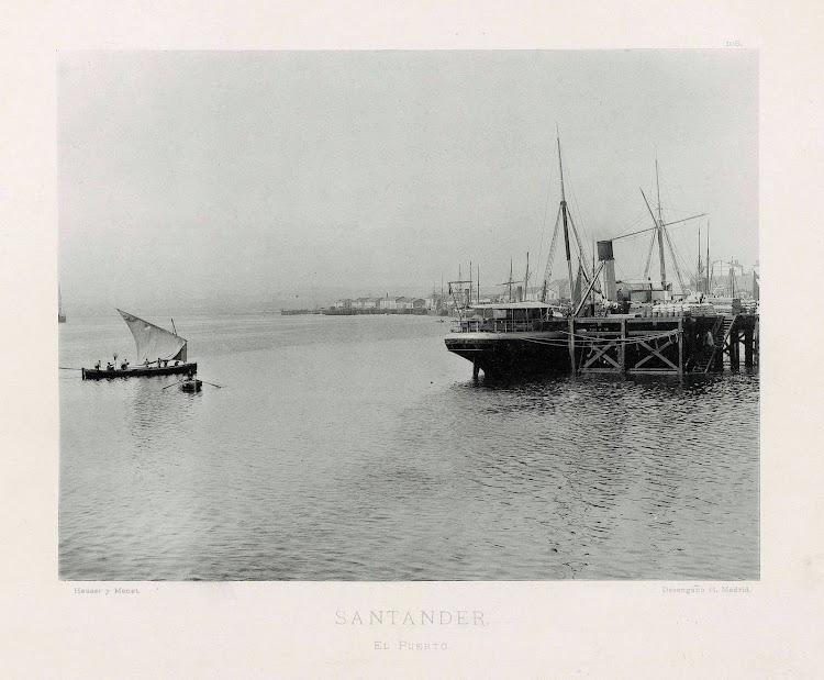 Vapor COVADONGA en el puerto de Santander. Foto de la Biblioteca Nacional de España.jpg