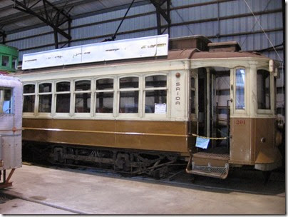 IMG_8668 Oporto Brill Streetcar #201 at Antique Powerland in Brooks, Oregon on August 1, 2009