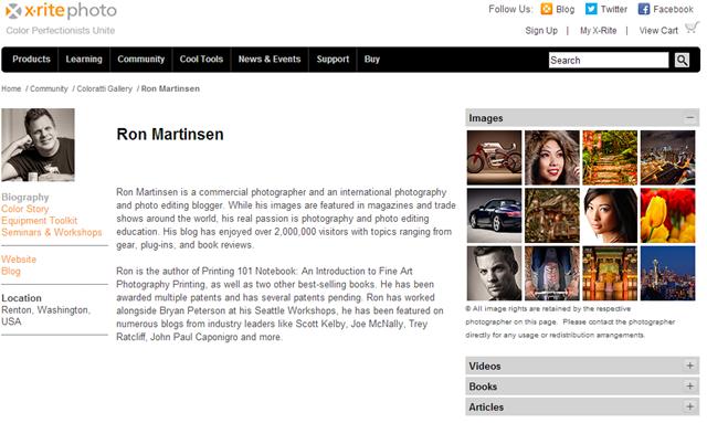 Visit X-Rite Ron Martinsen Coloratti Page