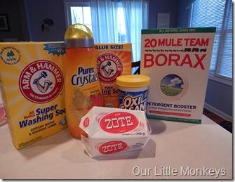 laundry, detergent, Purex, Zote, homemade