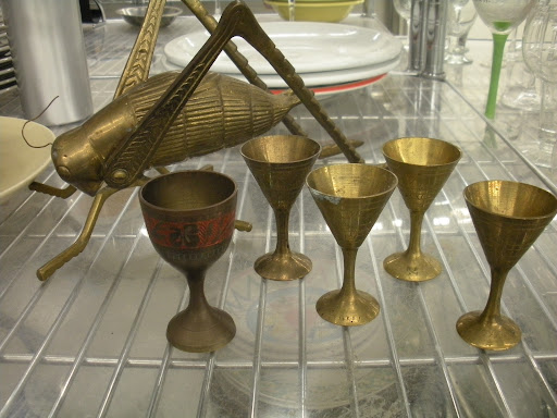 These bronze chalices would be great for a party or simply on display.