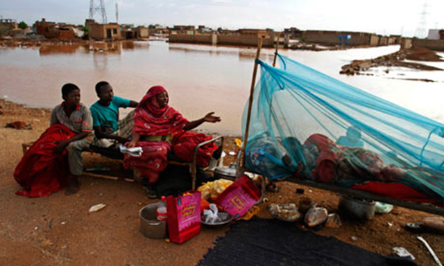 Flooding in Sudan in 2013 left many families homeless, particularly in the region around Khartoum, the capital. Photo: Abd Raouf / AP