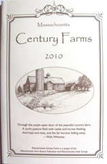 Century farm project book cover 2010