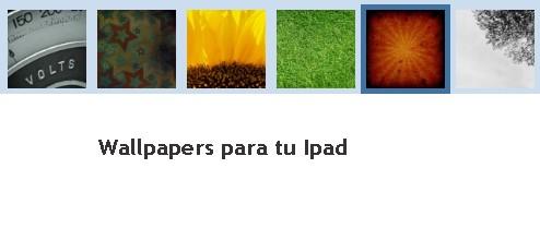 Fondos de pantalla para Ipad gratis