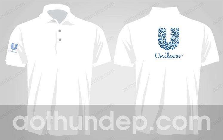 Áo thun màu trắng có cổ - Đồng Phục Unilever