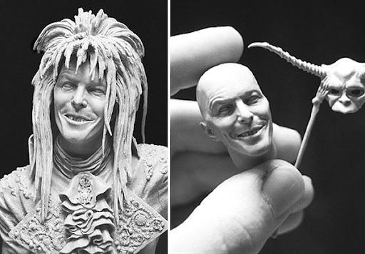 David%20Bowie Sculptures by Adam Beane