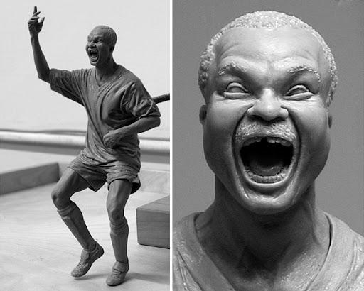 Roger%20Milla Sculptures by Adam Beane
