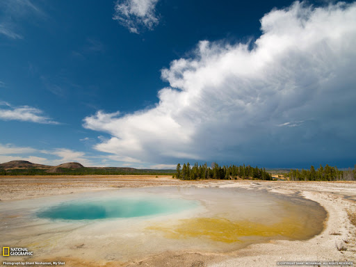 Thermal Pool Beautiful Landscape Photos