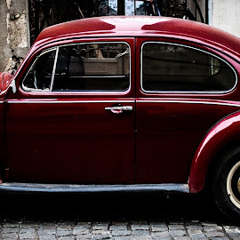 Red Hot Beetle by Alexander Dedelyanov - Transportation Automobiles ( car, red, hot, hd, beetle, shiny )