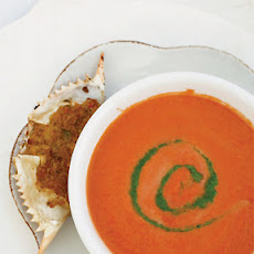 Farmstand Tomato Soup with Arugula Pesto