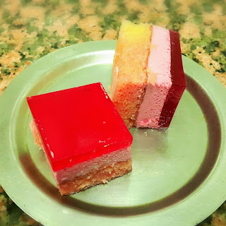 Raspberry Jello Cake