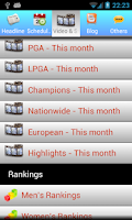 Screenshot of Golf NEWS
