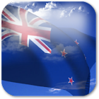 3D New Zealand Flag + icon