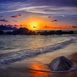 Sunset by Dany Fachry - Landscapes Sunsets & Sunrises ( beaches, west borneo, sunset, seascapes, indonesia, seaside, landscapes,  )