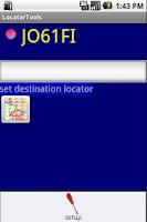 Screenshot of QTH Locator Droid