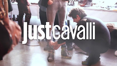 Behind the scenes Just Cavalli Shoot
