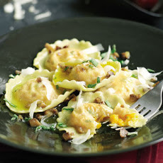 Squash And Ricotta Ravioli With Chestnut Butter Sauce