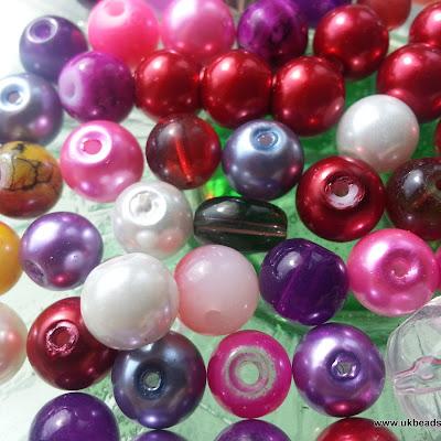 Mixed beads - Pink Tones