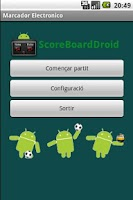 Screenshot of Score Board Droid
