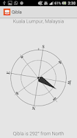 Screenshot of Qibla Direction Using GPS
