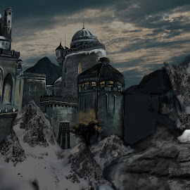 Castle by Austin Rupp - Illustration Buildings
