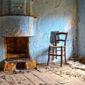 Solitude by Jo Polyxromos - Artistic Objects Antiques ( old house, greece, antiques )