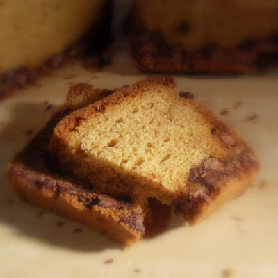 Peanut Butter Chocolate Chip Loaf Cake