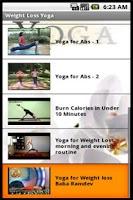 Screenshot of Weight Loss Yoga