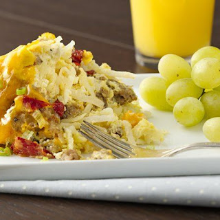 Slow-Cooker Sausage and Egg Breakfast Casserole