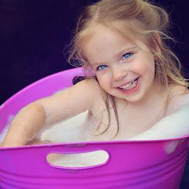 Bubble bath by Lucia STA - Babies & Children Child Portraits