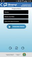 Screenshot of Sinesp Cidadão