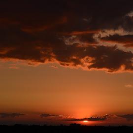 sunset by Sergey Timokhin - City,  Street & Park  Street Scenes ( clouds, sky, sunset, city,  )