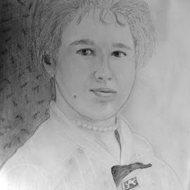my grandmother was young .. by Dubravka Penzić - Drawing All Drawing