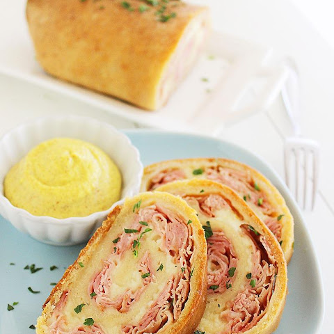3-Ingredient Baked Ham and Cheese Rollups