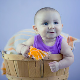 Bushel and a Peck by Diane Eskridge - Babies & Children Babies ( 6 months, basket, six months, baby )