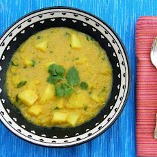 Spiced Potato and Red Lentil Soup