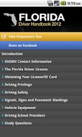 Screenshot of Florida Driver Handbook Free
