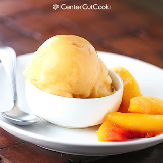 Peach Ice Cream {Healthy, Dairy-free}