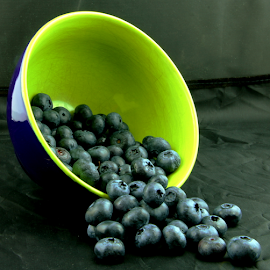 Blue Berries by Dennis Robertson - Food & Drink Fruits & Vegetables ( blueberries,  )