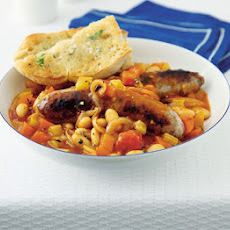 Sausage Casserole With Instant Garlic Bread