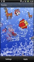 Screenshot of Santa Claus Live Wallpaper